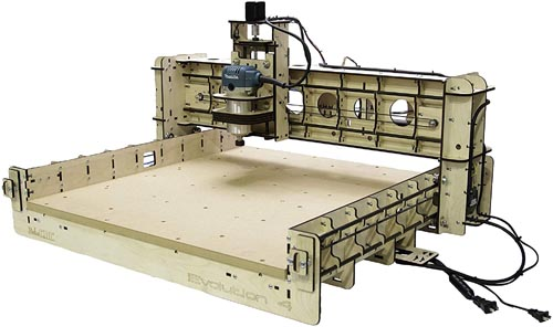 BobsCNC Evolution 4 CNC Router Kit with the Router