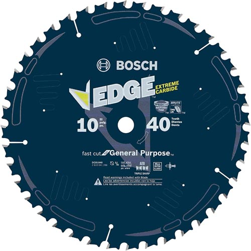 Bosch DCB1040 Daredevil 10-Inch 40-Tooth General Purpose