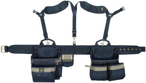CLC Custom Leathercraft 1614 20 Pocket, Heavy Duty Framers 5 Piece Comfortlift Combo Tool Belt System