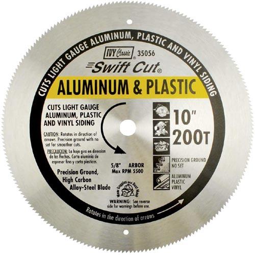 IVY Classic 35056 Swift Cut 10 inch 200 Tooth Aluminum & Plastic Cutting