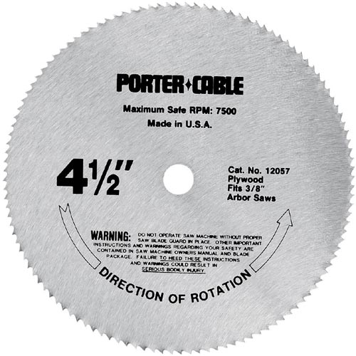 PORTER-CABLE 4-1 2-Inch Plywood Cutting 120-Tooth