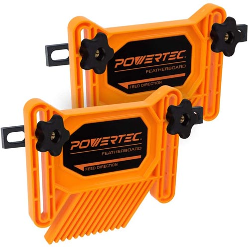 POWERTEC 71393 Dual Universal Featherboards for Multi-Functional Woodworking