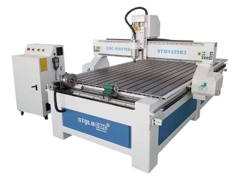 Top Rated 4 Axis CNC Router 1325 with 4x8 Rotary Table