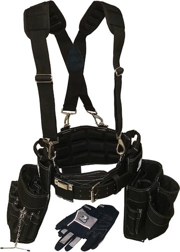 Ventilated Back Support Tool Belt Combo